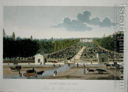 View of the Jardin du Roi in Paris from the bridge of Austerlitz by Henri  (after) Courvoisier-Voisin - Reproduction Oil Painting