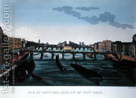 The Pont des Arts and the Pont Neuf, c.1815-20 by Henri  (after) Courvoisier-Voisin - Reproduction Oil Painting