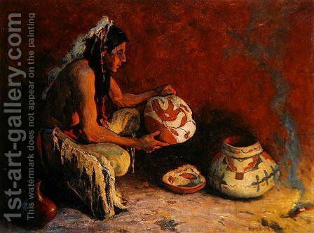 The Bird Jar, 1933 by Eanger Irving Couse - Reproduction Oil Painting