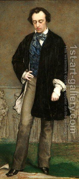 Portrait of George Frederick Watts (1817-1904) by Charles Cousins - Reproduction Oil Painting