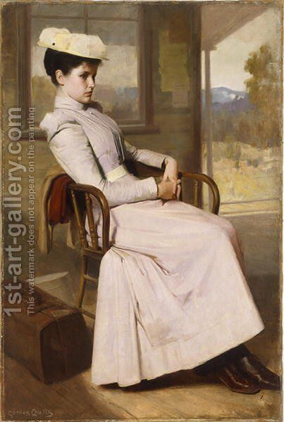 Waiting  1896 by Gordon Coutts - Reproduction Oil Painting
