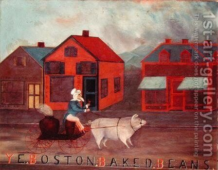 Ye Boston Baked Beans, 1886 by H.E. Covill - Reproduction Oil Painting