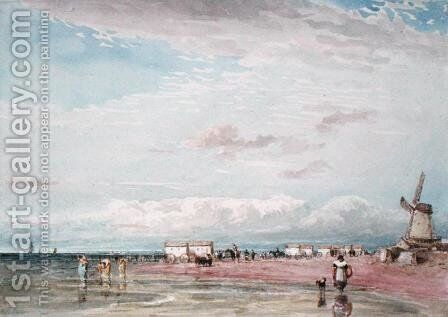 North Shore, Liverpool by David Cox - Reproduction Oil Painting