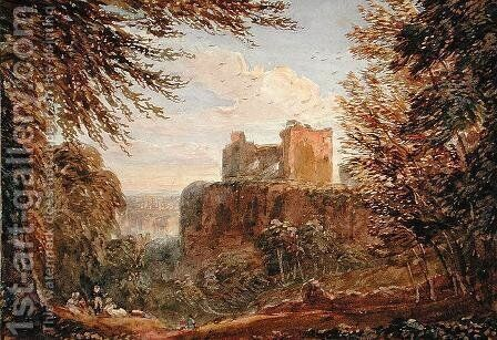 Chepstow Castle by David Cox - Reproduction Oil Painting
