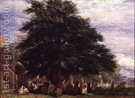 Darley Churchyard by David Cox - Reproduction Oil Painting