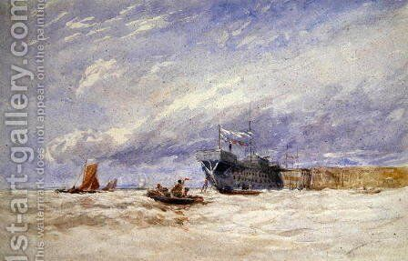 On the Medway, c.1845-50 by David Cox - Reproduction Oil Painting
