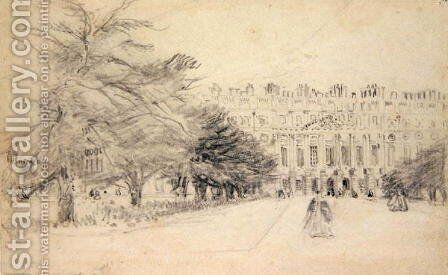 Hampton Court Palace, East Front by David Cox - Reproduction Oil Painting