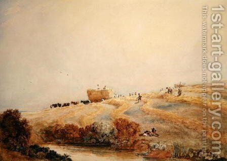 Haymaking c.1808 by David Cox - Reproduction Oil Painting