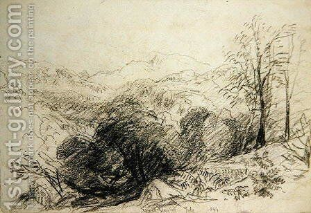 Moel Siabod by David Cox - Reproduction Oil Painting