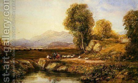 The Vale of Conwy by David Cox - Reproduction Oil Painting