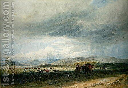 Ludwea Meadows by David Cox - Reproduction Oil Painting