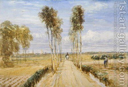The Poplar Avenue by David Cox - Reproduction Oil Painting