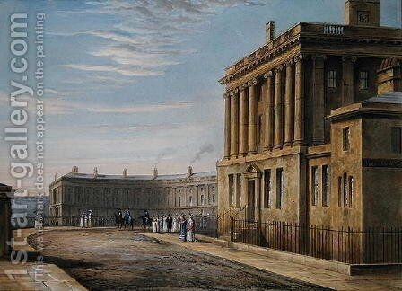The Royal Crescent, Bath 1820 by David Cox - Reproduction Oil Painting