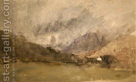 Capel Curig, Caernarvonshire, Wales by David Cox - Reproduction Oil Painting