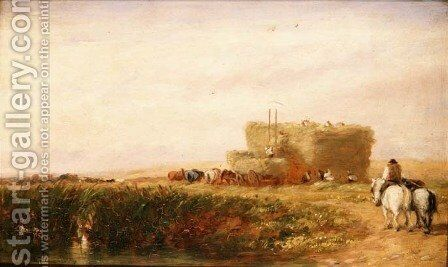 The Hayfield  1847 by David Cox - Reproduction Oil Painting