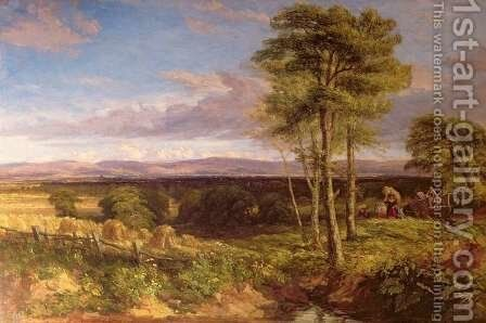 A Vale of Clwyd  1846 by David Cox - Reproduction Oil Painting