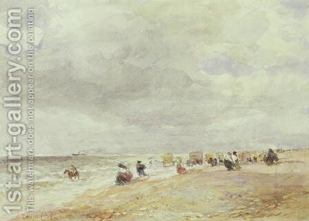 Rhyl Sands by David Cox - Reproduction Oil Painting