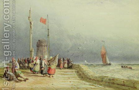 Dieppe by David Cox - Reproduction Oil Painting