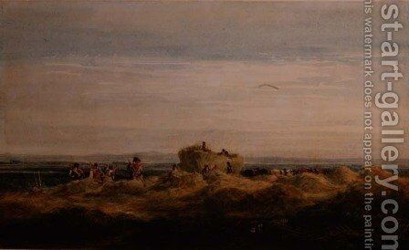 The Hayfield by David Cox - Reproduction Oil Painting