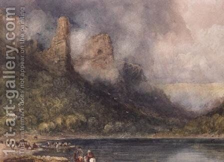 Travellers at Longstone on the Wye by David Cox - Reproduction Oil Painting