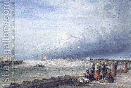 Calais Pier 3 by David Cox - Reproduction Oil Painting
