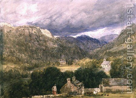 Bettws-y-Coed by David Cox - Reproduction Oil Painting