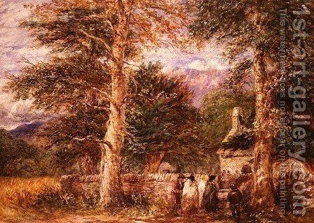 Bettws-y-Coed Church, North Wales, 1852 by David Cox - Reproduction Oil Painting