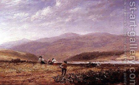 Haymakers in a Welsh Landscape, 1852 by David Cox - Reproduction Oil Painting