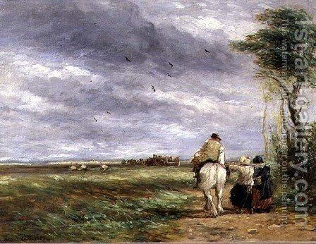 Going to the Hayfield, 1852 by David Cox - Reproduction Oil Painting