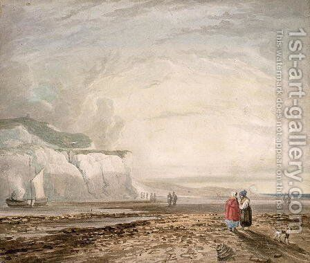 A Seaside View by David Cox - Reproduction Oil Painting