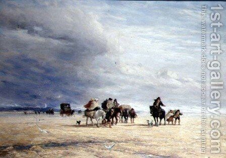 Lancaster Sands  1841 by David Cox - Reproduction Oil Painting