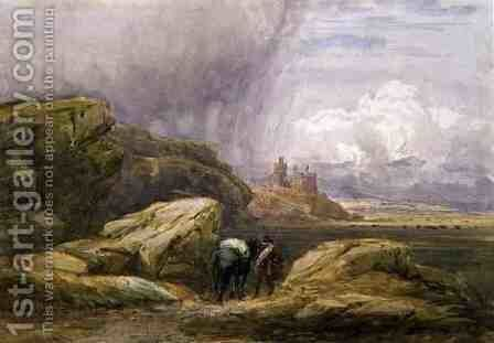 Harlech Castle, 1836 by David Cox - Reproduction Oil Painting