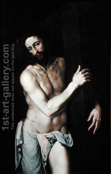 Christ Carrying the Cross by Michiel van Coxie - Reproduction Oil Painting