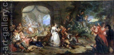Roland is told of Angelique's Infidelity by the Shepherds by Charles-Antoine Coypel - Reproduction Oil Painting