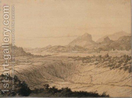Rocky Landscape by Alexander Cozens - Reproduction Oil Painting