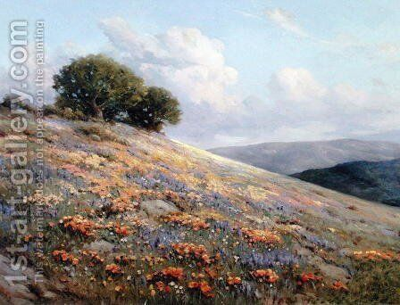 Summer Bloom 1920 by Bruce Crane - Reproduction Oil Painting