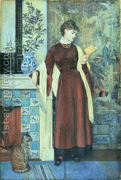 At Home  A Portrait, 1872 by Walter Crane - Reproduction Oil Painting