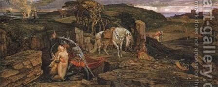 The Laidly Worm of Spindleston Heugh, 1881 by Walter Crane - Reproduction Oil Painting