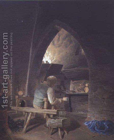 Glassmaking at Warrington by James Jnr. Cranke - Reproduction Oil Painting