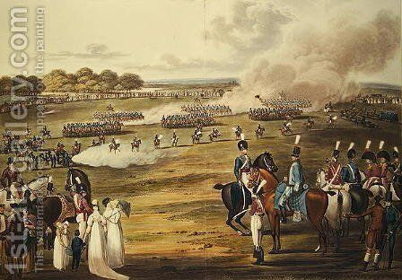 View of the London Volunteer Cavalry and Flying Artillery, 1805 by Charles Cranmer - Reproduction Oil Painting