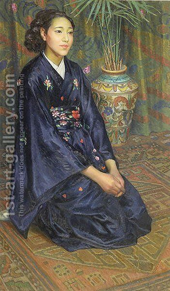 The Japanese Woman by Giovanni Battista Crema - Reproduction Oil Painting