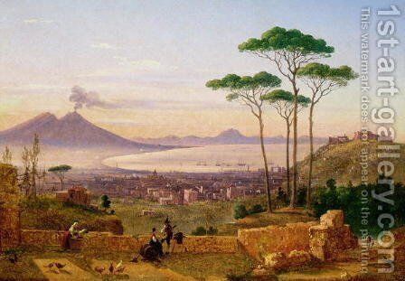 Bay of Naples by Andrea da Crescio - Reproduction Oil Painting