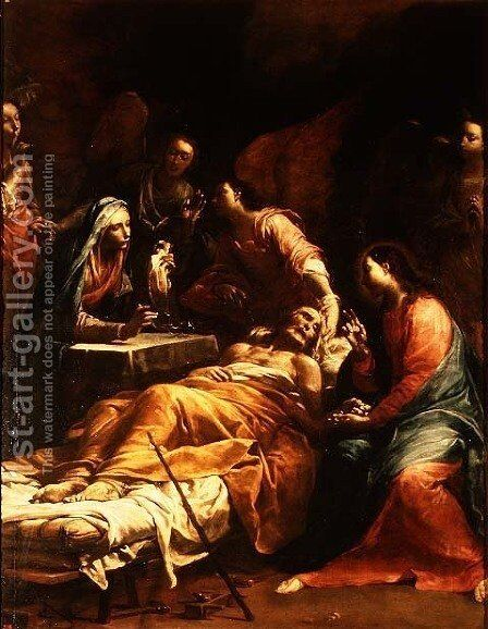 The Death of St. Joseph, c.1712 by Giuseppe Maria Crespi - Reproduction Oil Painting