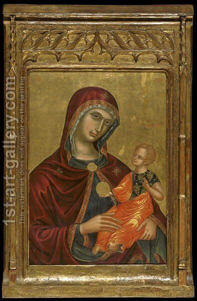 Icon of the Virgin Madre della Consolazione by Anonymous Artist - Reproduction Oil Painting