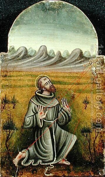 St. Francis Receiving the Stigmata by Anonymous Artist - Reproduction Oil Painting