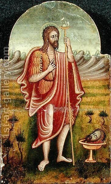 St. John the Baptist Contemplating Martyrdom by Anonymous Artist - Reproduction Oil Painting