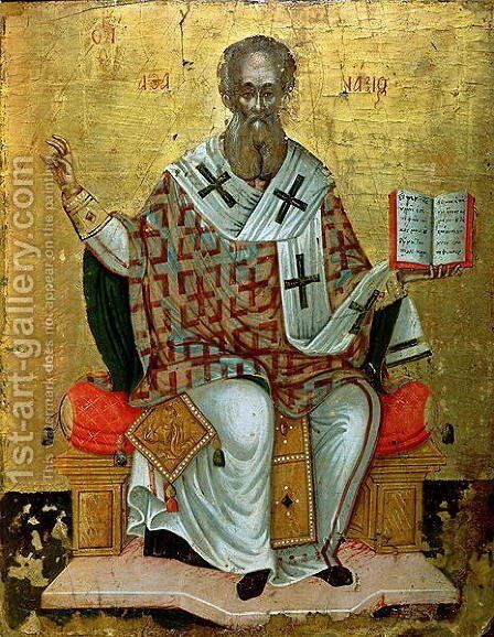 St. Athanasius the Great (d.c.295) by Anonymous Artist - Reproduction Oil Painting