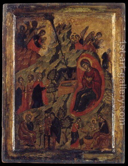 The Nativity by Anonymous Artist - Reproduction Oil Painting