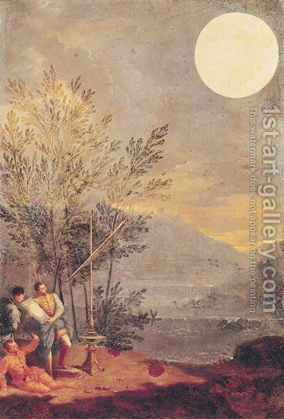 Astronomical Observations 2 by Donato Creti - Reproduction Oil Painting