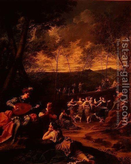 Pastoral Idyll, Dance of the Nymphs  c.1725 by Donato Creti - Reproduction Oil Painting